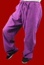 Lin Fin Pantalon Violet Kung Fu Tai Chi Sarouel Sport Jogging Sur Mesure #116