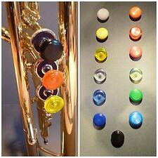 1 botón de válvula trompeta falleció. colores mentadas. marcas dedo button trumpet