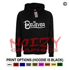 Believer Fish Cute Christian Hoodie Black Sweatshirt Jesus Religious Cross