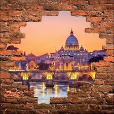 Adesivo parete inganna l'occhio murale de pietra Le Roma Vaticano 914