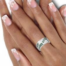 Breiter Damen Ring 925 echt Silber Zirkoniasteine bunt große Größen 52-64 neu