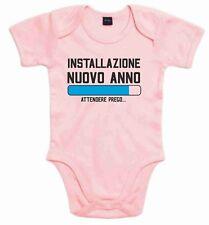 BODY BABY ROSA E BIANCO PER NATALE: ANNO