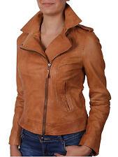 Brandslock Womens Genuine Leather Biker Jackets bomber Vintage