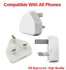 Job Lot Wholesale Main USB Wall 3 Pin Power Plug Charger UK Adapter Fits Samsung