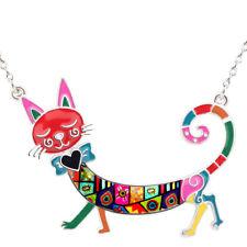 Choker Chain Animal Jewelry For Women Enamel Alloy Cat Necklace Pets Pendant