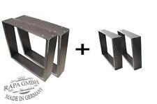 Set rapa mensalis1 Industriedesign Tischgestell schwarz Rohstahl mit Bankgestell
