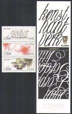 Aland Islands 2007 Arts/Crafts/Ceramics/Flowers/Crown/Artists 9v bklt (n36158)