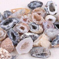 Wholesale 10Pcs Geodes Oco Agate Natural Crystals Druzy Halves Quartz Specimens