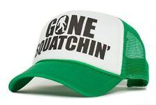 Custom Gone Squatchin' adult trucker Cap Hat Baseball Funny Big foot Curved Bill