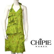 CHIPIE robe volants femme vert imprimé
