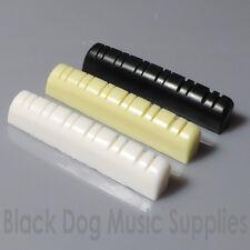 Chaîne de douze écrou supérieur de guitare 43mm x 5mm en noir,blanc ou ivoire