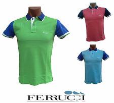 Polo, Camiseta Hombre con collar 2 botones. FERRUCCI, SAMMY. 100% algodón. Italy