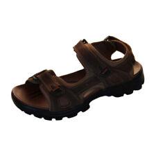 Mens Shoes Sandals Brown Borelli Malibu Triple Fasten Sandal Size 6-12 New Shoe