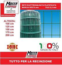 25mt RETE PLASTIFICATA ELETTROSALDATA VERDE  ZINCATA RECINZIONE 50X75 5X7,5 2.8