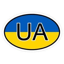 Ukraine UA-csd0270 des Autocollants Sticker Autocollant Voiture Drapeau
