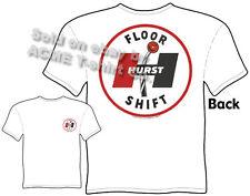 Hurst T Shirt Automotive Shirts Hot Rod Clothes Muscle Car Apparel Floor Shift