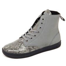 D1666 sneaker donna DR MARTENS LEYTON scarpe grigio shoe woman