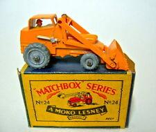 "Matchbox RW 24A Excavator orange in ""MOKO"" Box"