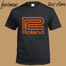 New Roland Synthesizer Logo Men's Black T-Shirt Size S to 3XL