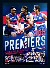 2016 Western Bulldogs Premiers Official AFL Celebration Print Framed