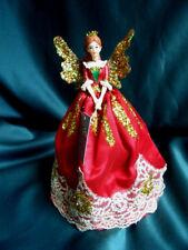 GISELA GRAHAM*Weihnachten*Nußknacker*Engel*Fairy*Baumspitze*Rot&gold*20cm