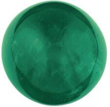 Natural Extra Fine Deep Green Emerald - Round Cabochon - Sandawana, Mozambique -