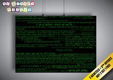 Poster Fond vert Hacker