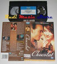 film VHS CHOCOLAT  Juliette Binoche Johnny Depp  EAGLE PICTURES 1997(F69) no dvd