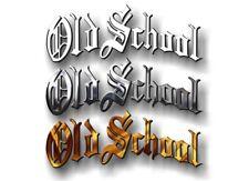 """OLD SCHOOL Vinyl 9"""" Decal Retro Rockabilly Classic Funny Car Window Sticker JDM"""
