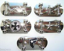 Chrome Skateboard Belt Buckle 5 Styles $, Iron Cross, Star, Trucker Babe, Famous