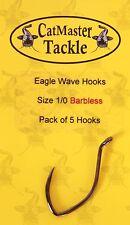 Catmaster NEW Catfish Fishing Eagle Wave Barbless Hooks *All Sizes*