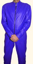 LEDERANZUG neu  Lederoverall blau Overall Anzug leather Catsuit Lederkombi