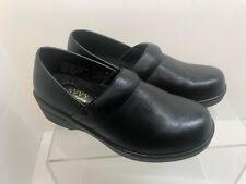 Savvy Smooth Black Professional Nurses Clogs Ladies shoes