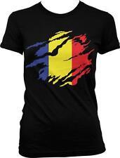 Romania Shred Flag Romanian Pride Rumania Roumania Mandrie Juniors T-shirt
