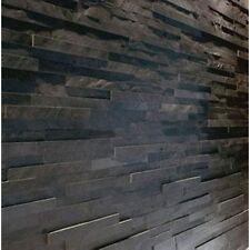 Splitface Nero Ardesia le piastrelle a mosaico (CAMPIONE) Z TILE 3D STONE RIVESTIMENTO MURO