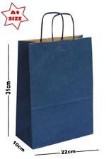 bleu marine A4 papier Fête Sac cadeau ~ Boutique présent TRANSPORT ~ PIC montant