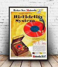 Motorola Hi Fidelity, reproducción de cartel vintage de publicidad.