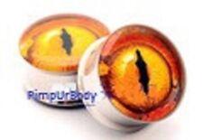 Snake Eye Ear Plug, Reptile Ear Tunnel, Saddle, Ear Stretcher Sizes 6mm-25mm