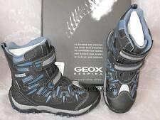 GEOX Tex Winter STIEFEL Klett-Stiefel schwarz blau grau wasserdicht J1306K