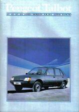 Peugeot Talbot Samba Horizon Alpine Rancho 205 305 505 604 January 1984 Brochure