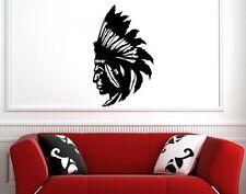 Indio Nativo Americano Pegatinas de Pared Arte Calcomanía Vinilo Decoración De Pared Decoración De Gran Tamaño
