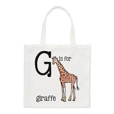 Lettre G est pour Girafe PETIT SAC FOURRE-TOUT - Alphabet Animal drôle épaule