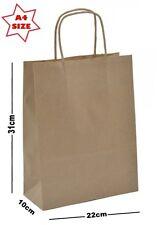 Kraft Fauve A4 Sacs En Papier Pour Fête Boutique Magasin Présent Sac Transport ~