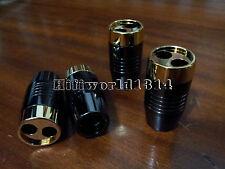 4pc hifi Copper Alloy Speaker Audio Cable Wire Pants Boots Y splitter Pant