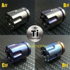 "4 styles Ti Titanium "" Revolver magazine "" shaped paracord beads lanyard bead"