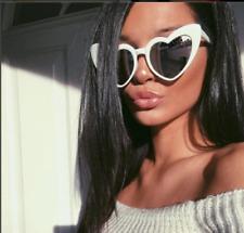 Fashion Heart Shaped Love Mirrored Reflective Lenses Women Sunglasses Shades