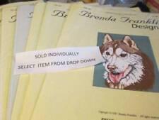 Brenda Franklin Designs Dog Cross Stitch Chart-Dh-Dn Series- Breeds Starting Wit