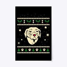 "Custom Christmas Rhodesian Ridgeback Gift Poster - 24""x36"" Gift Poster - 24""x36"""