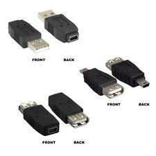 USB 2.0 Mini B 5 Pin to Type A Male Female Adapter Converter Camera Phone PC MAC