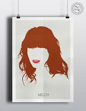FLORENCE WELCH (Machine) - Minimalist Poster Silhouette Hair Minimal Wall Art